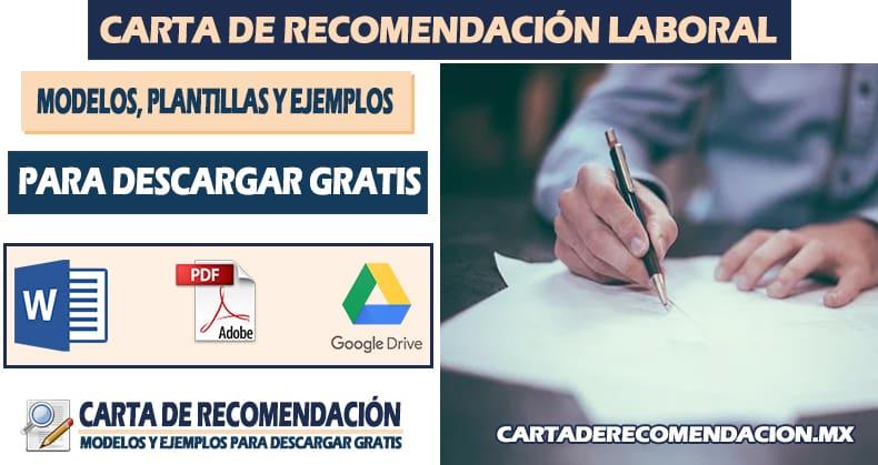 carta de recomendacion laboral ejemplos