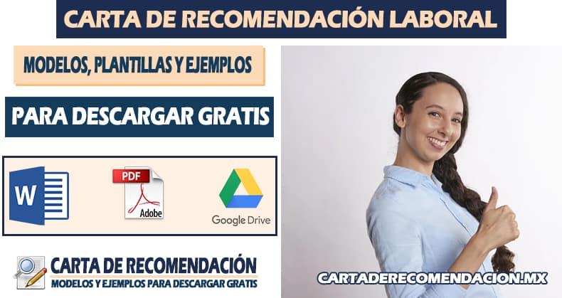 carta de recomendacion laboral plantilla
