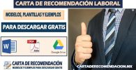 carta de recomendacion laboral word