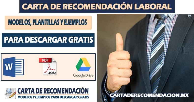 carta de recomendacion laboral word