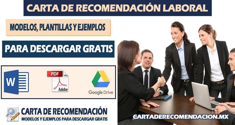 formato de carta de recomendacion laboral