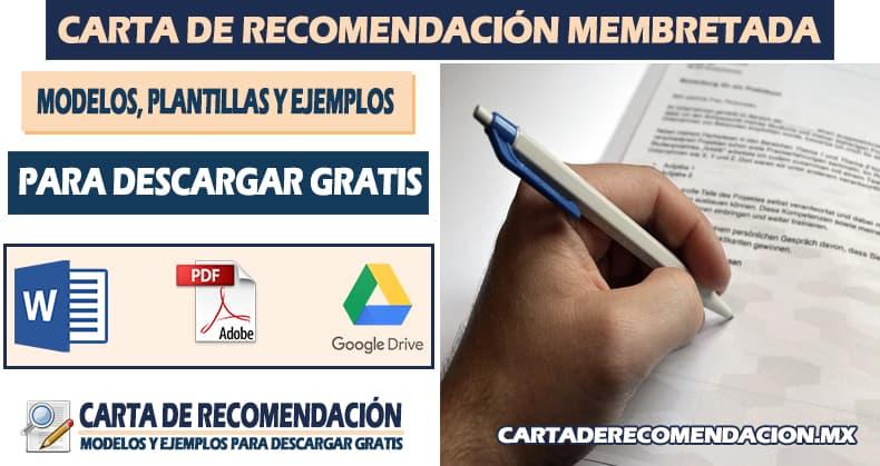Carta de recomendación membretada