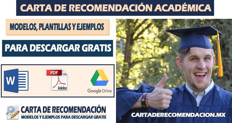 carta de recomendacion academica ejemplo