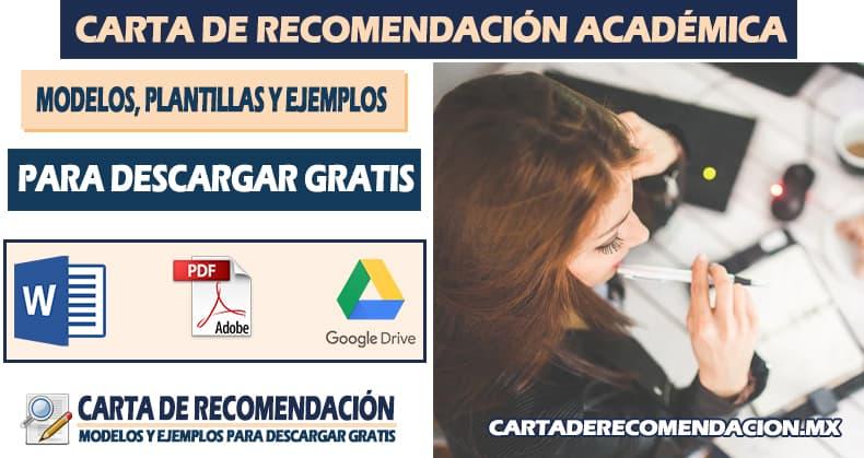 carta de recomendacion academica word