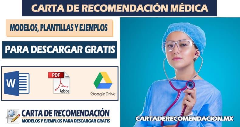 carta de recomendacion medica