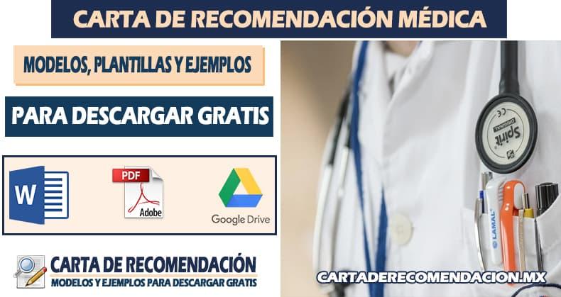 carta de recomendacion medico